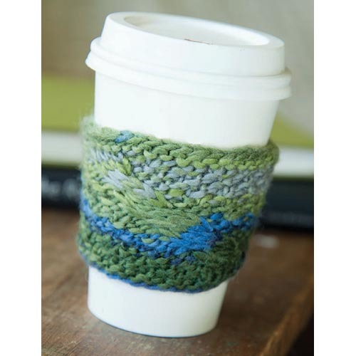 Cable Coffee Cozy Easy Knitting Pattern Favecrafts