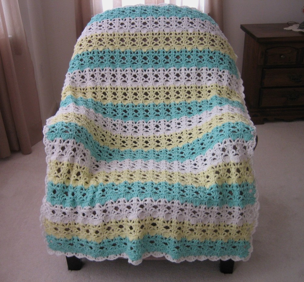 Springtime Lace Easy Crochet Afghan Pattern Favecrafts