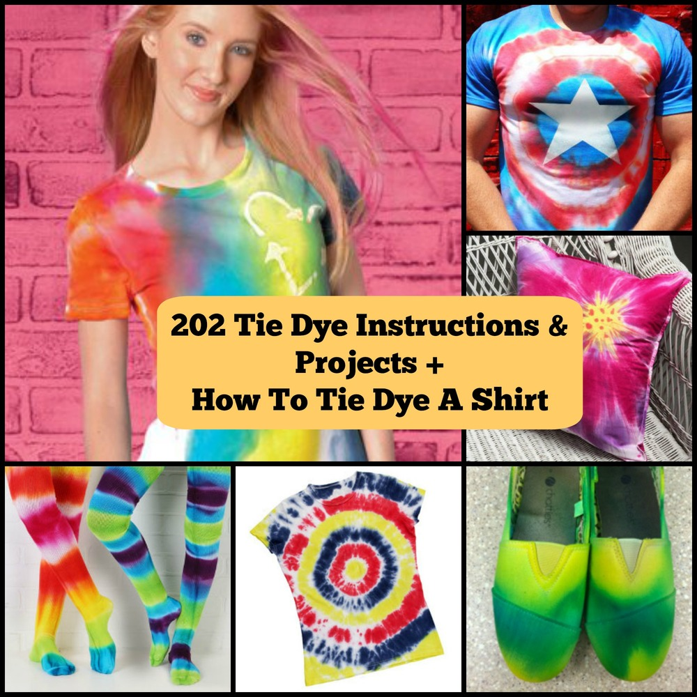 232 tie dye instructions and projects how to tie dye a for How to put a picture on a shirt diy