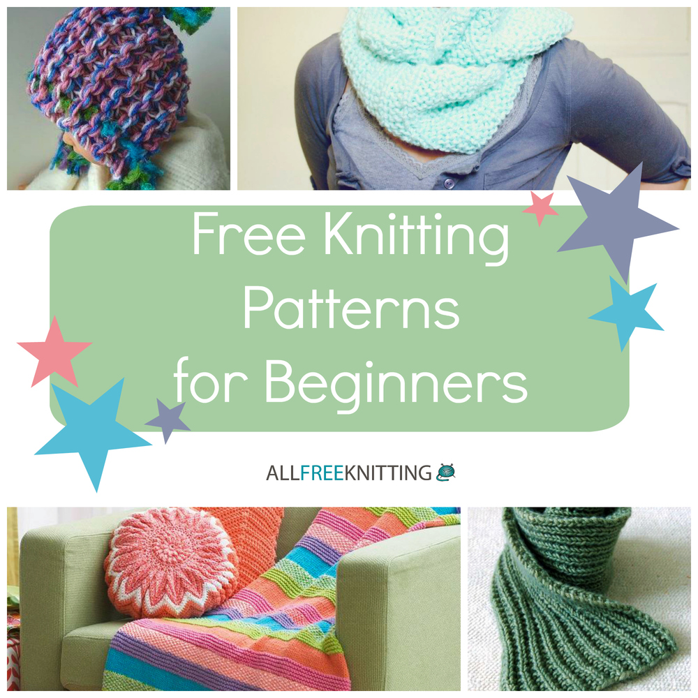 Knitting For Beginners Guide: 54 Free Knitting Patterns for Beginners AllFr...