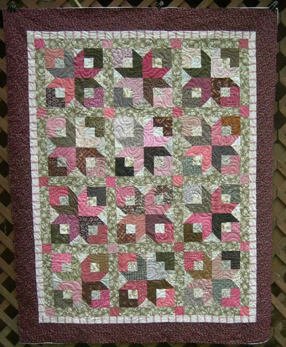 Boxy Stars Strip Quilt Pattern Favequilts Com