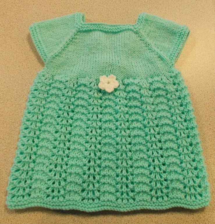 Knitting Summer Dress : Sweet summer knit baby dress allfreeknitting