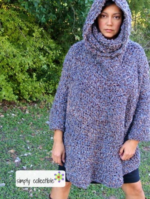 Hooded Poncho Cowl Crochet Pattern