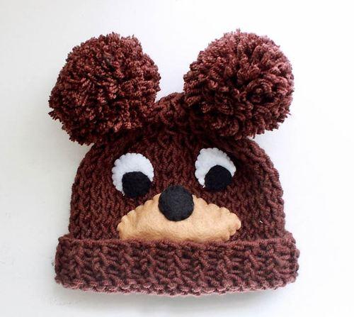 Baby Bear Knit Hat Pattern Allfreeknitting