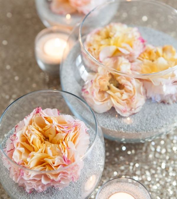 Blossoming Beach Centerpieces