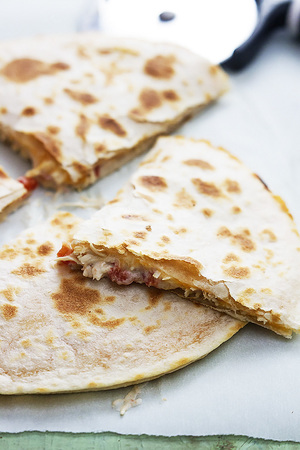 Slow Cooker Creamy Chicken Quesadillas