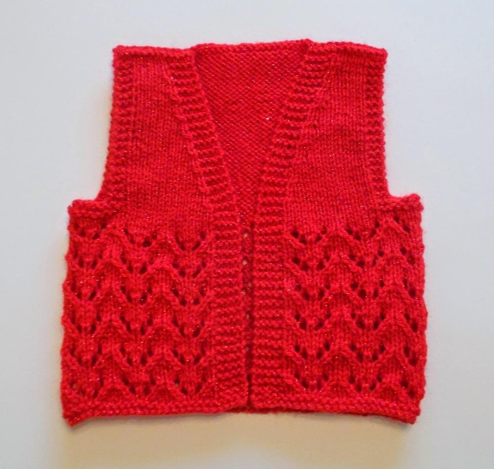Knitting Pattern Gilet : Basic Baby Gilet AllFreeKnitting.com