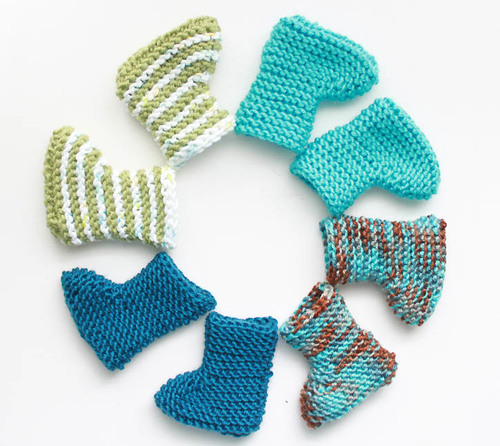 Crazy Easy Knit Baby Booties Allfreeknitting