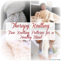 Therapy Knitting: 21 Free Knitting Patterns for a Healthy Mind