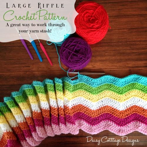 Stashbuster Ripple Crochet Afghan | AllFreeCrochetAfghanPatterns.com