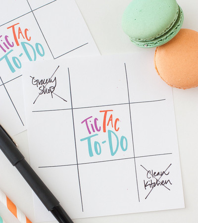 Tic Tac To-Do List