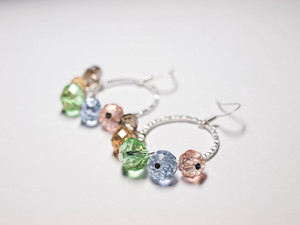 Precious Pastel Loop Earrings