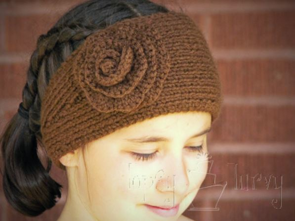 ridiculously simple knit and crochet headband