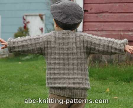 Checkered Cuff To Cuff Knit Sweater Allfreeknitting