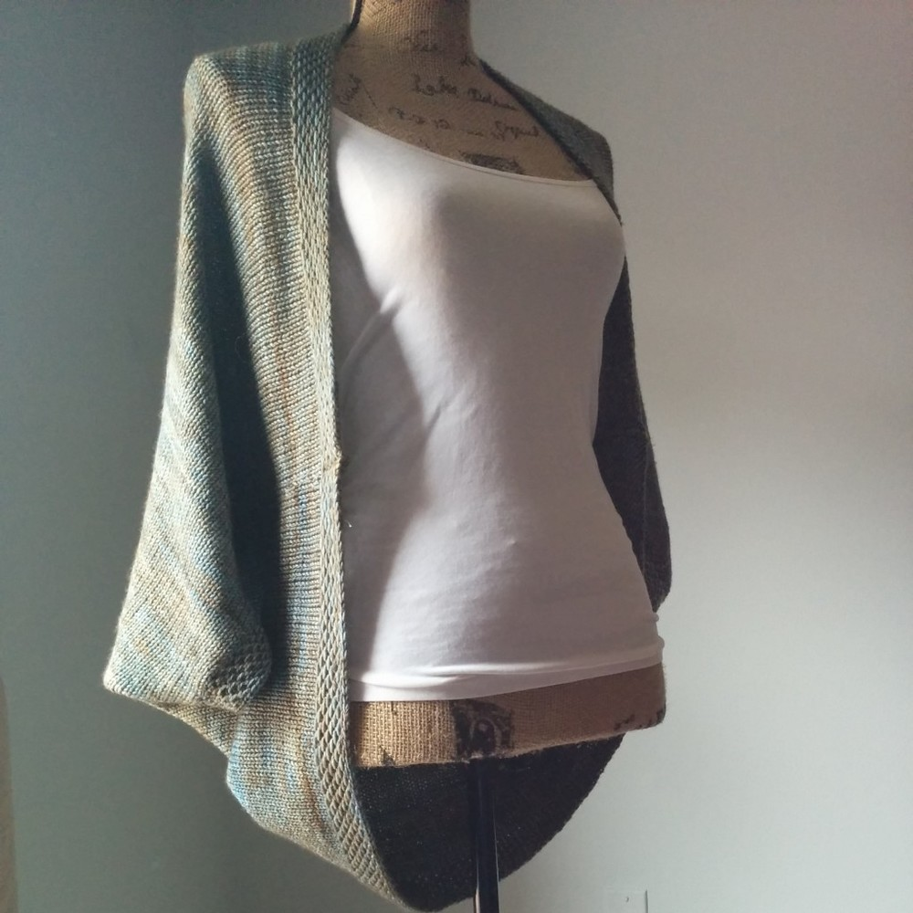 Whispering Willows Knit Shrug | AllFreeKnitting.com