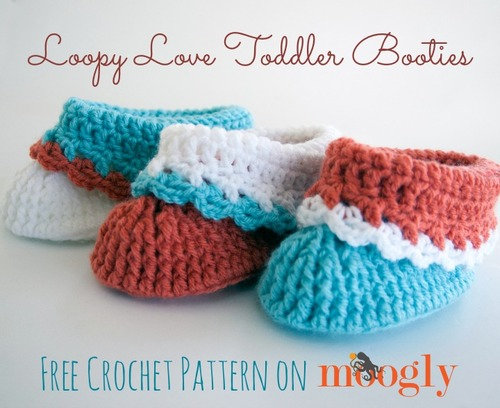 Loopy Love Toddler Crochet Booties Allfreecrochet