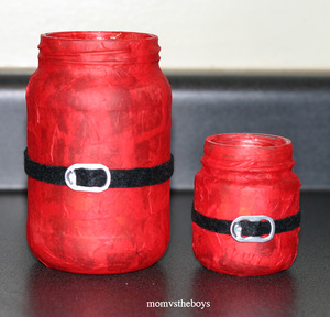 Santa Candles Mason Jar Christmas Crafts