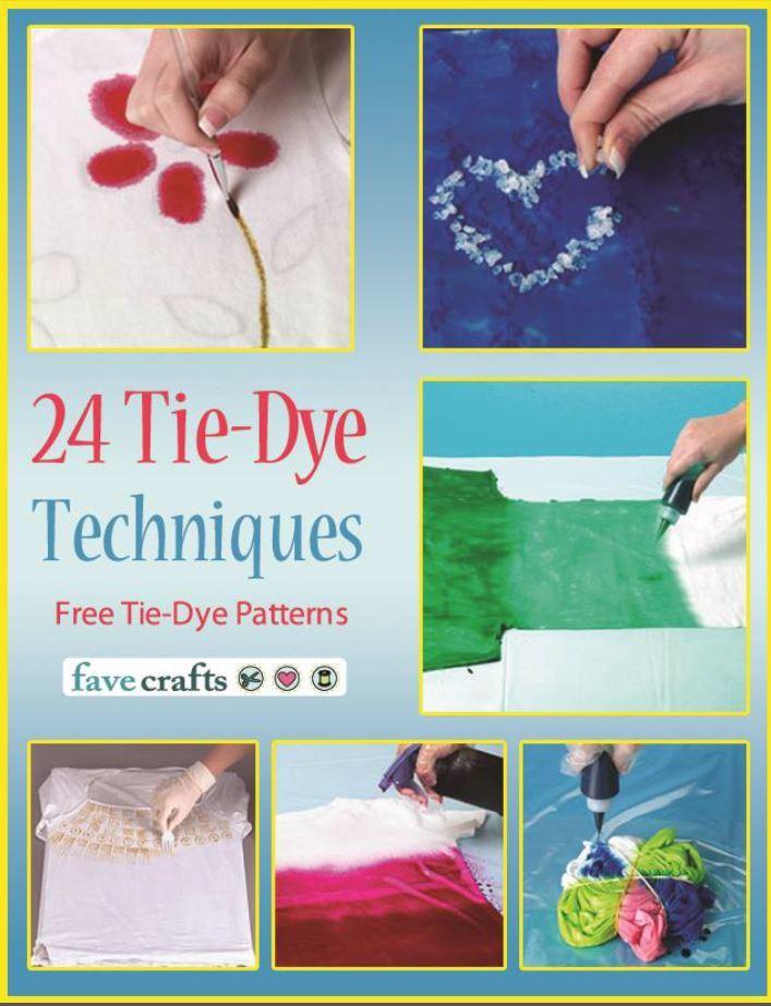 24 tie dye techniques free tie dye patterns ebook. Black Bedroom Furniture Sets. Home Design Ideas