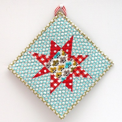 Starbright Quilted Potholder Favequilts