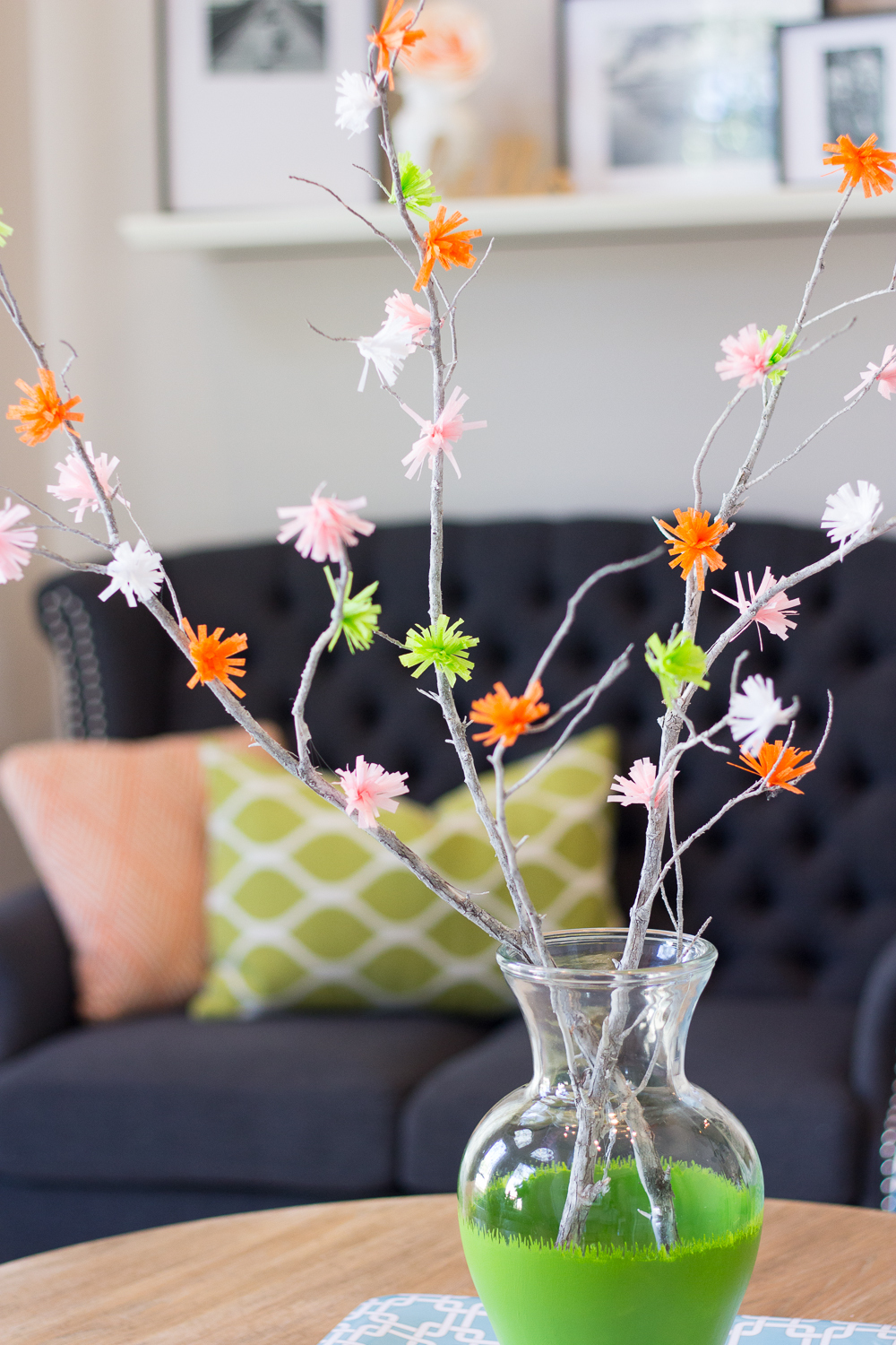 Colorful Crepe Paper Flower Branches Allfreepapercrafts