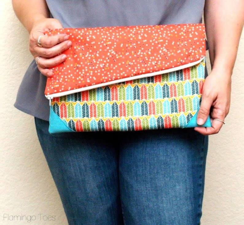 Simple Fold Over Clutch Allfreesewing Com