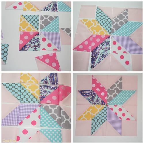 Star Flower Quilt Block Tutorial | AllFreeSewing.com : star flower quilt block pattern - Adamdwight.com