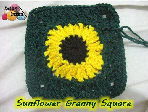 Fields of Sunflowers Granny Square | AllFreeCrochet.com