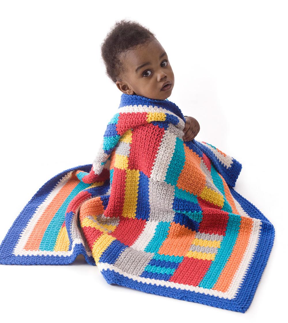 Modern Patchwork Crochet Throw | AllFreeCrochetAfghanPatterns.com