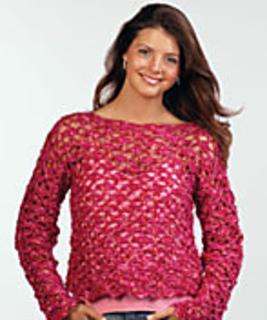 Raspberry Cartwheel Crochet Top FaveCrafts.com