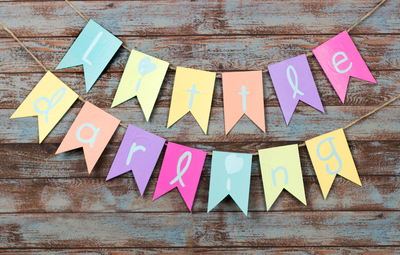 Perfect Little Darling Banner Baby Shower Craft