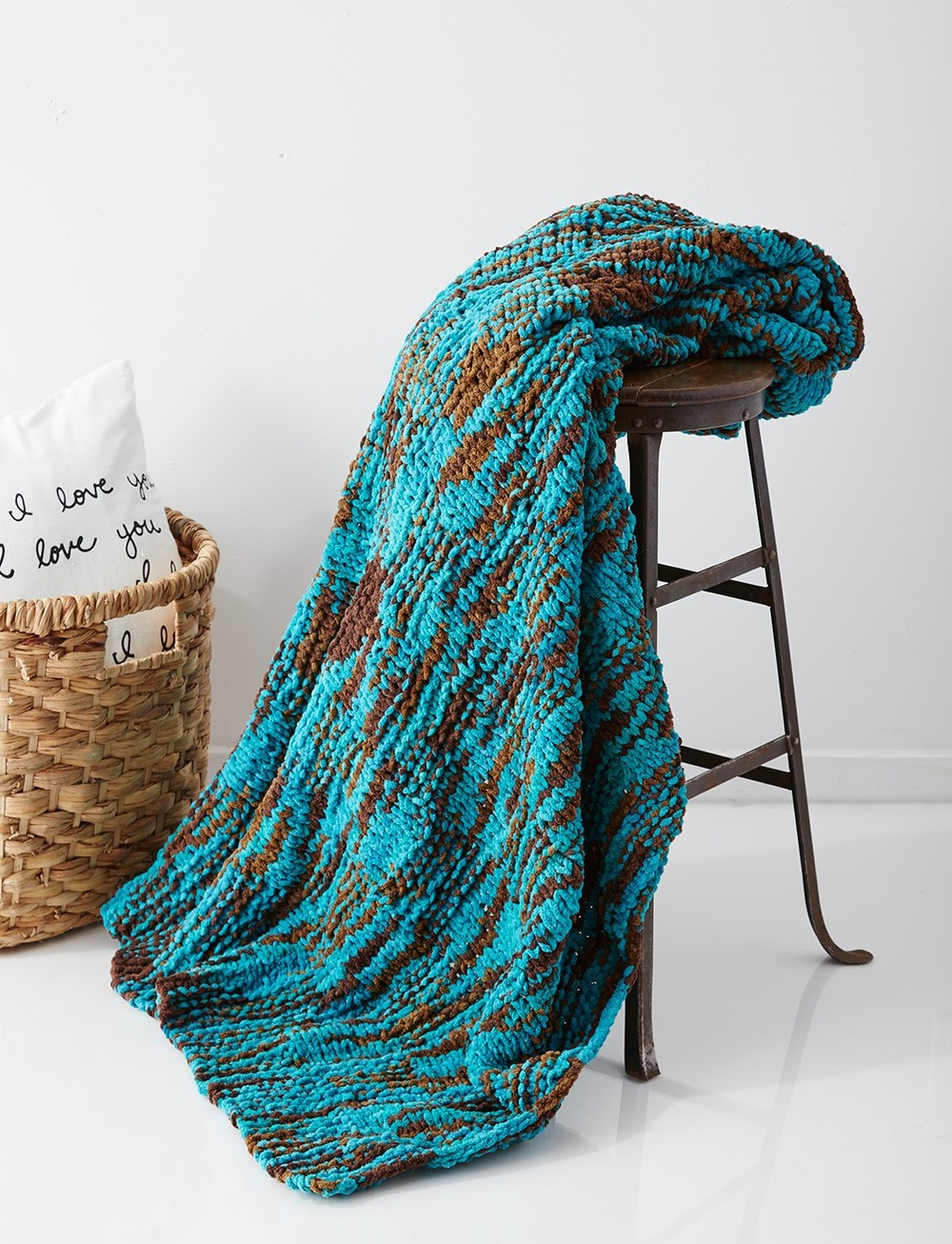 Seafoam Knit Throw AllFreeKnitting.com
