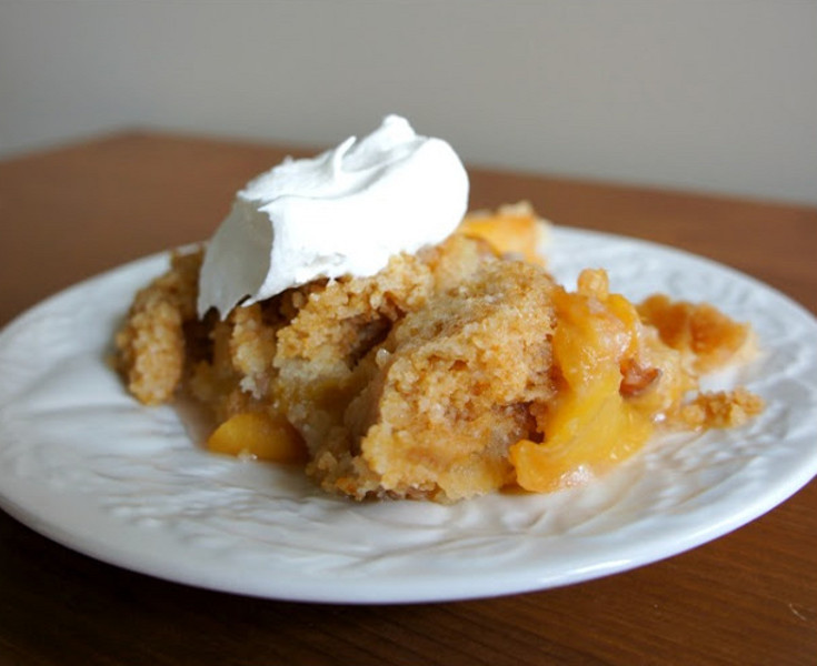Slow Cooker Peach Cobbler With Cake Mix