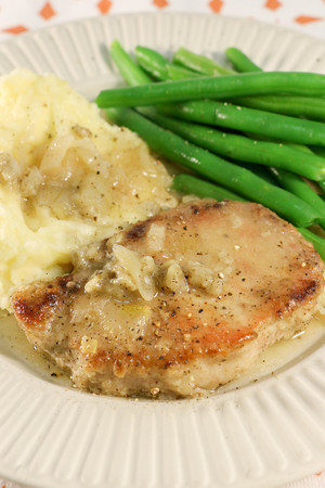 Southern Smothered Slow Cooker Pork Chops