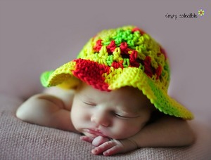 Child's Easy Crochet Sun Hat