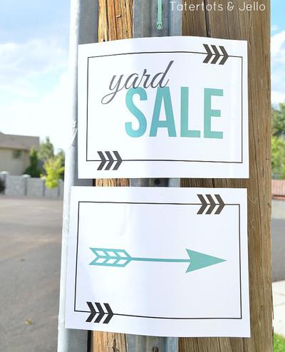 free printable yard sale signs allfreeholidaycrafts com