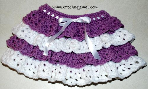 Girls Crochet Ruffle Skirt Allfreecrochet