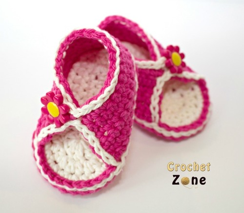 Peek-A-Boo Baby Crochet Sandals