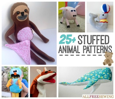 25+ Easy Stuffed Animal Patterns | AllFreeSewing.com