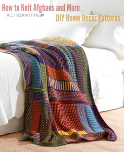 How to Knit Afghans and More: 300 DIY Home Decor Patterns