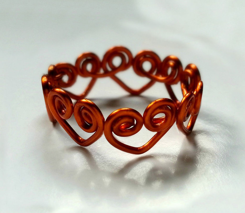 Heart Wrapped Diy Wire Ring Allfreejewelrymaking Com