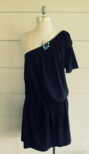 One Shoulder Dress Patterns for Sewing