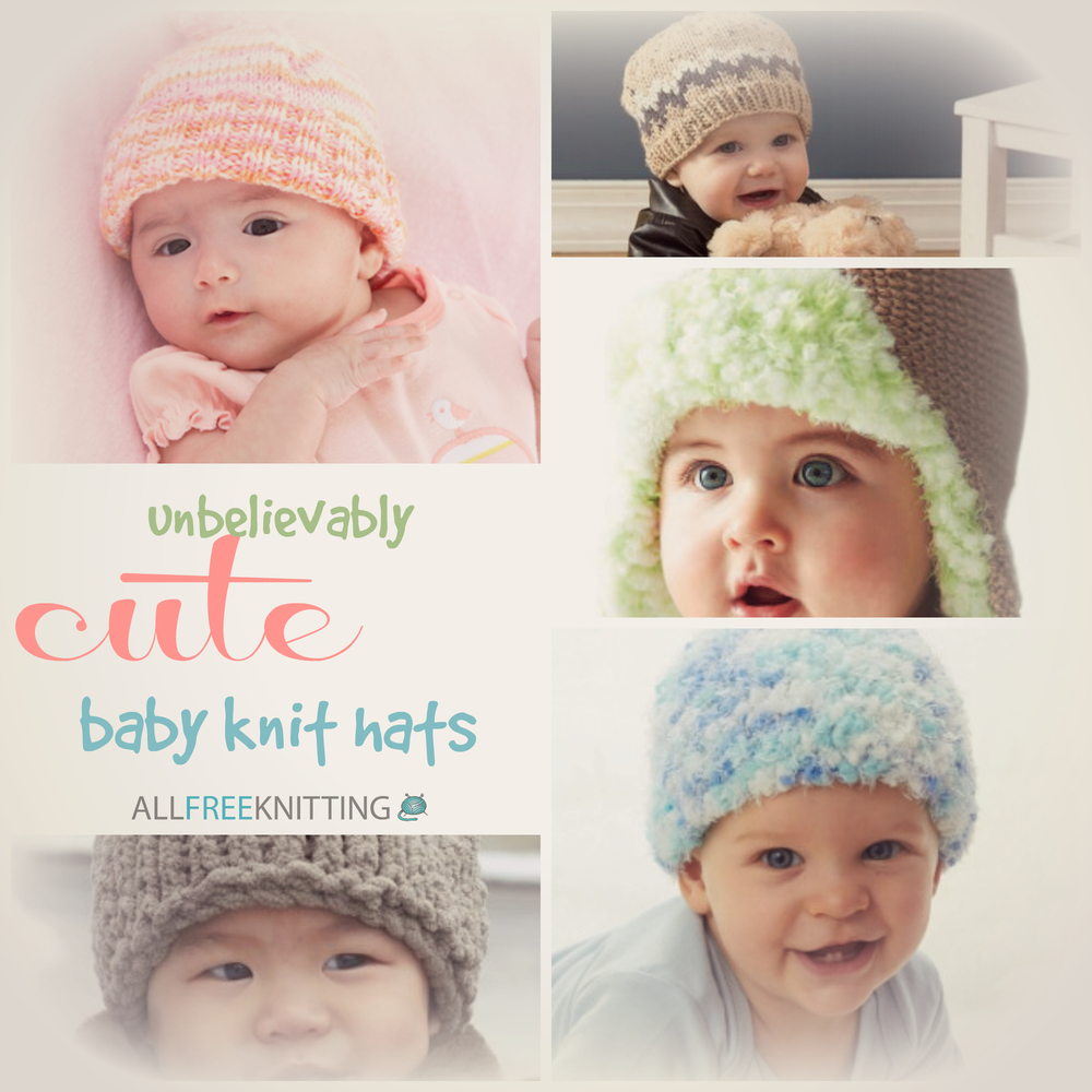 31 Unbelievably Cute Baby Knit Hats | AllFreeKnitting.com