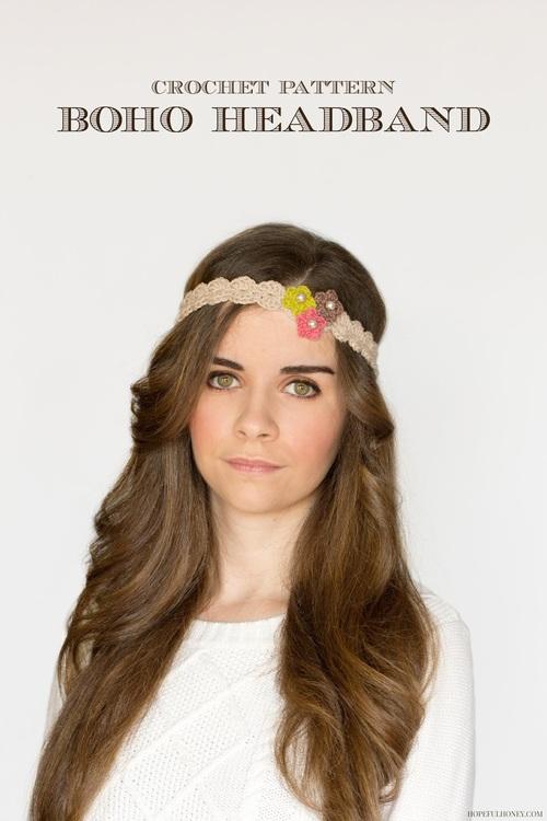 Crochet Flowers Headband Pattern | FaveCrafts.com