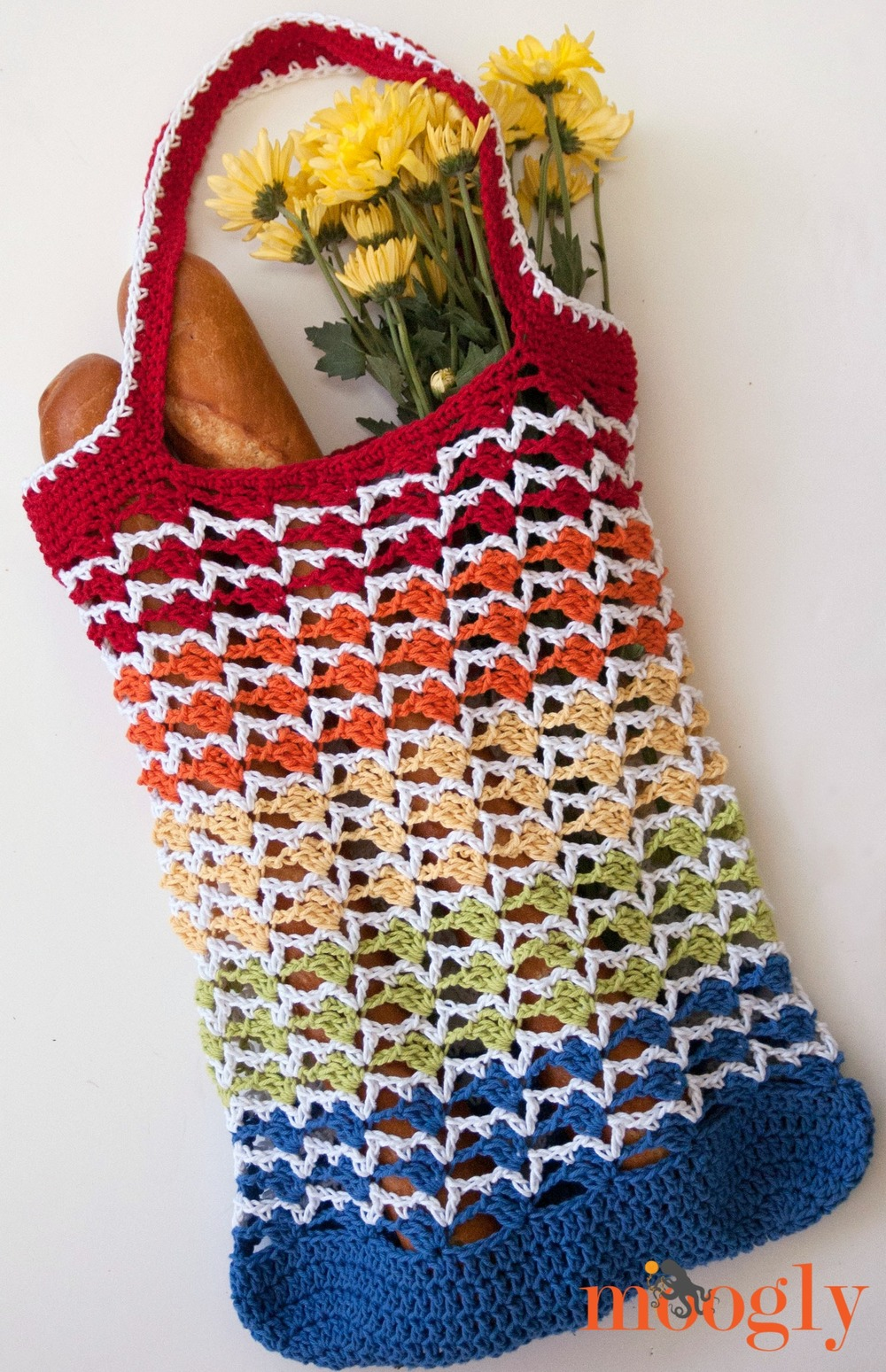 Rainbow Crochet Tote Bag Allfreecrochet Com