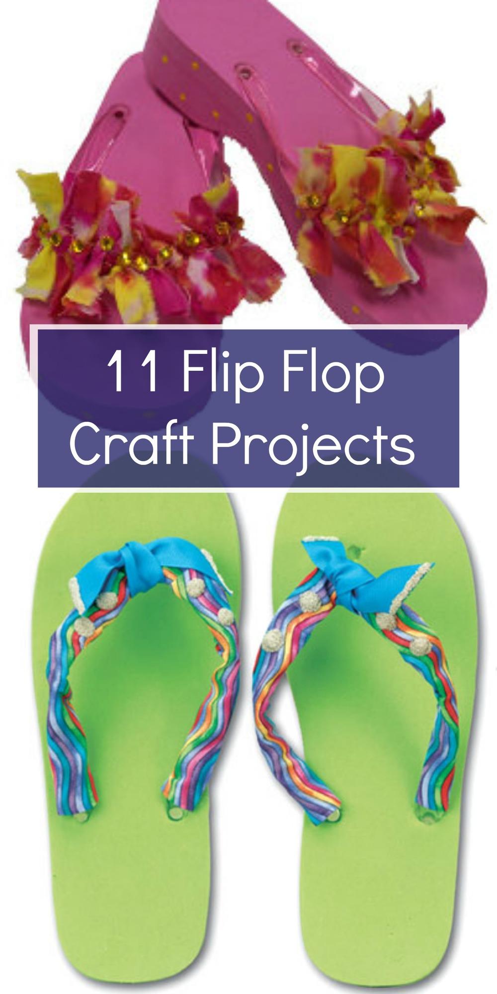 11 flip flop craft projects for Flip flops for crafts
