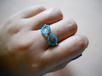 Beaded Infinity Wire Ring