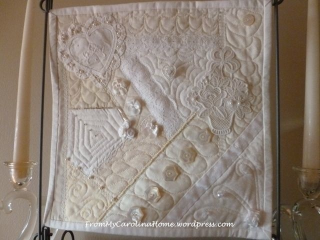 White Crazy Mini Quilt Pattern Favequilts Com