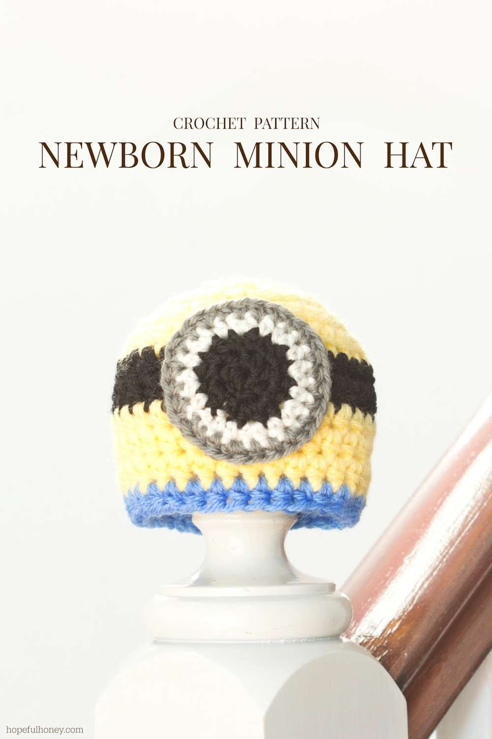 Crochet Baby Minion Hat Pattern : Baby Minion Crochet Hat Pattern FaveCrafts.com
