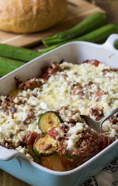 Ground Beef Zucchini Casserole