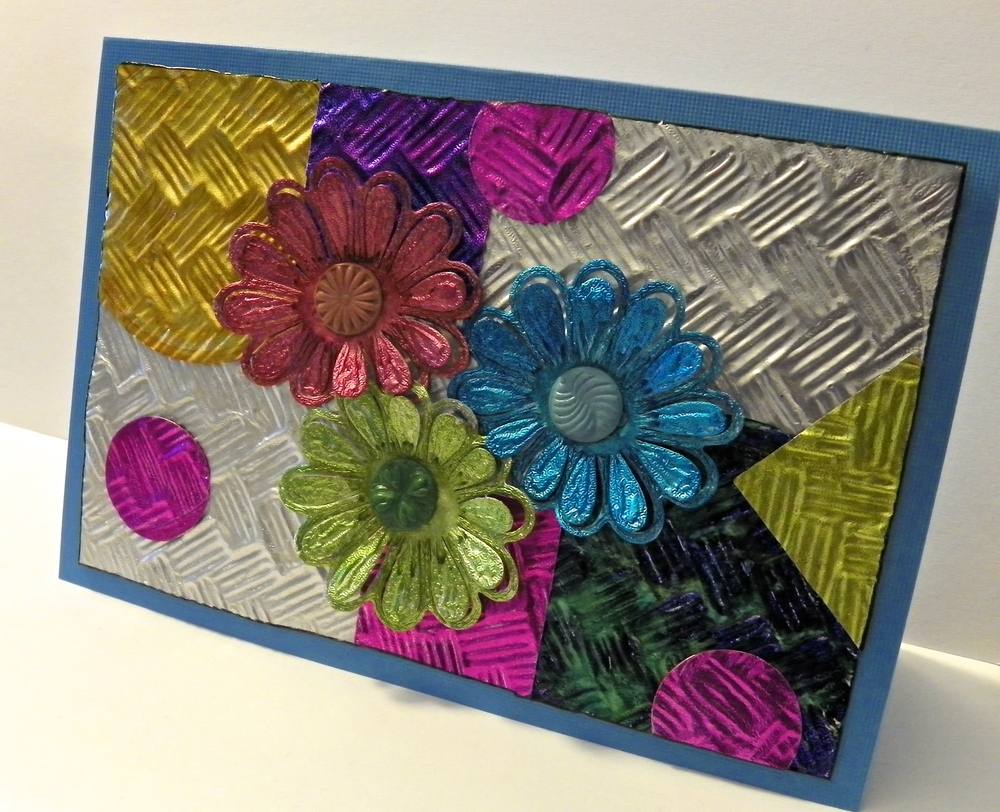 Upcycled Foil Collage Greeting Card Favecrafts Com
